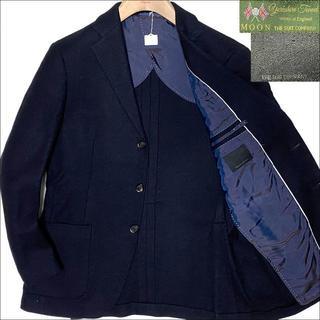 スーツカンパニー(THE SUIT COMPANY)のJ3112 美品 スーツカンパニー MOON生地 ソフトツイードジャケット 紺 (テーラードジャケット)