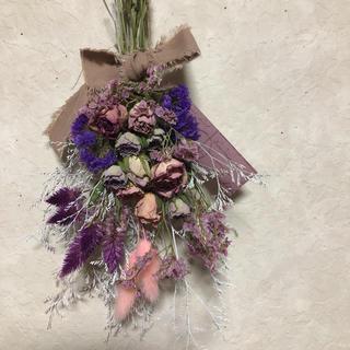 ♡専用No.107 バラいっぱいpink&purple*ドライフラワースワッグ♡(ドライフラワー)