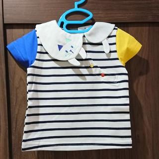 ナルミヤ インターナショナル(NARUMIYA INTERNATIONAL)のbaby cheer 猫 衿 半袖 Tシャツ 新品タグつき(Tシャツ)
