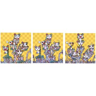 【たこ様専用】村上隆 子パンダ子パンダ パンダ子パンダパンダ 子パンダパンダ(絵画/タペストリー)