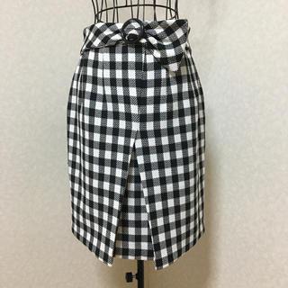 ミーア(MIIA)のMIIA ギンガムスカート 美品(ひざ丈スカート)