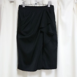 ピンキーアンドダイアン(Pinky&Dianne)の美品 Pinky&Dianne ピンキー&ダイアン タイトスカート 黒(ひざ丈スカート)