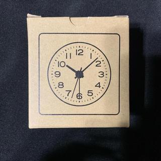 MUJI (無印良品) - 無印良品ブナ材時計(アラーム機能付)