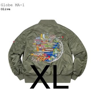 シュプリーム(Supreme)のsupreme Globe MA-1 オリーブXL(ブルゾン)