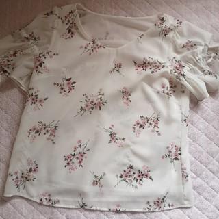 プロポーションボディドレッシング(PROPORTION BODY DRESSING)の花柄 トップス プロポーション (カットソー(半袖/袖なし))
