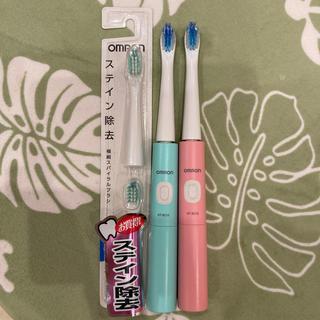 オムロン(OMRON)のオムロン電動歯ブラシ☆*°数回使用♥2個セット(電動歯ブラシ)
