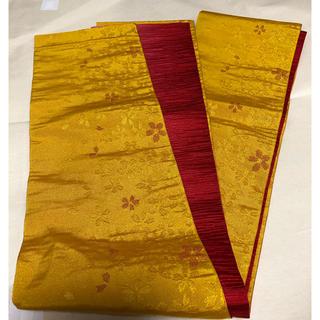 浴衣帯 半幅帯 黄色✖️赤(浴衣帯)