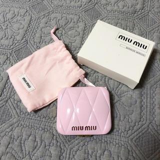 miumiu - miumiu香水 限定ノベルティピンクミラー 新品