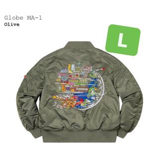 シュプリーム(Supreme)のsupreme globe ma1 ma-1 alpha OLIVE(フライトジャケット)
