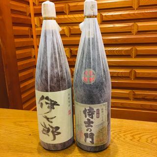芋焼酎 侍士の門  伊七郎(志村けんさんが愛飲)  1800cc  2本セット(焼酎)