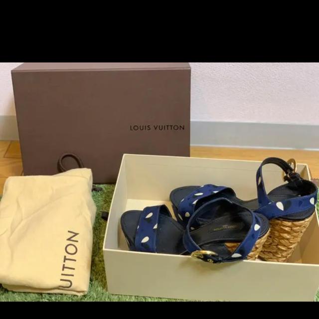 LOUIS VUITTON(ルイヴィトン)のルイヴィトン ウエッジソール ウッドヒール レディースの靴/シューズ(サンダル)の商品写真