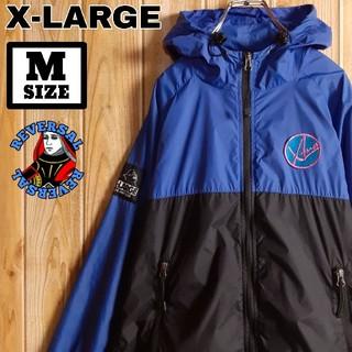 エクストララージ(XLARGE)のX-LARGE エクストララージ フード付き 刺繍ロゴ フルジップ JKT M(ナイロンジャケット)