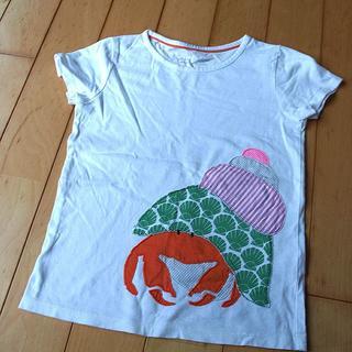 ボーデン(Boden)のminiboden やどかりアップリケ半袖Tシャツ 5-6Y 120cm 中古 (Tシャツ/カットソー)