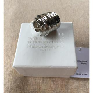マルタンマルジェラ(Maison Martin Margiela)のM新品 メゾン マルジェラ カフ リング 指輪 アーマーリング シルバー(リング(指輪))