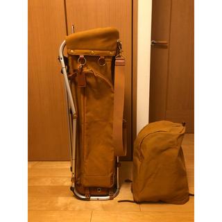 ミズノ(MIZUNO)のミズノ 木の庄 コラボ フレームウォーカー キャディバッグ 初期モデル(バッグ)