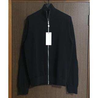 マルタンマルジェラ(Maison Martin Margiela)の黒S新品 メゾン マルジェラ ドライバーズニット コットン ブルゾン ブラック(ニット/セーター)