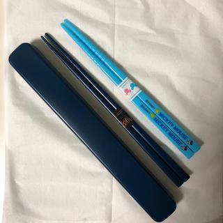 ミッキーマウス(ミッキーマウス)の【未使用】お弁当用の箸 18.0cm & 16.5cm 男の子用(弁当用品)