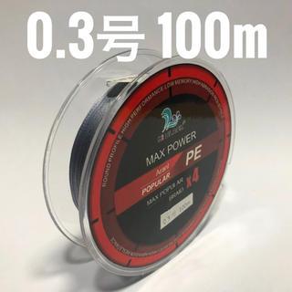 PEライン 0.3号 100m グレー(釣り糸/ライン)