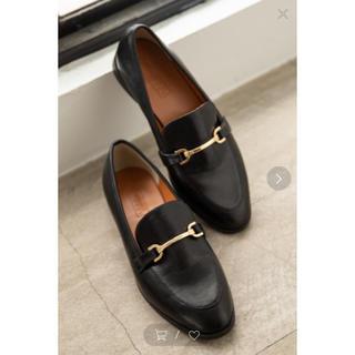 ローリーズファーム(LOWRYS FARM)の美品◎ローリーズファーム  ビット付きローファーMブラック黒(ローファー/革靴)