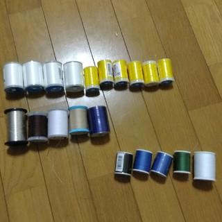 糸セット スパン糸 レジロン糸 銀糸 多数(生地/糸)