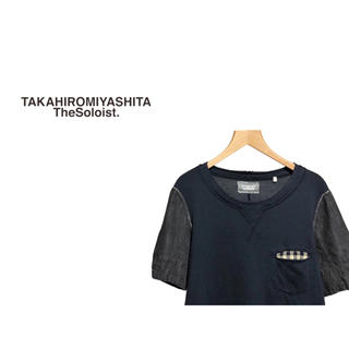 ナンバーナイン(NUMBER (N)INE)のTAKAHIRO MIYASHITA Soloist デニムスリーブ カットソー(Tシャツ/カットソー(半袖/袖なし))