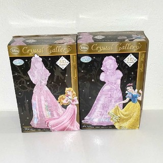 ディズニー(Disney)の【単品購入可能】クリスタルギャラリー 白雪姫 オーロラ姫 2体セット(模型/プラモデル)