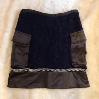 サカイラック(sacai luck)のサカイラック sacai luck チェーン ニットスカート  スカート (ひざ丈スカート)