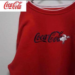 コカコーラ(コカ・コーラ)のCoca-Colaコカコーラ•スウェット•刺繍ロゴ•企業•トレーナー(スウェット)