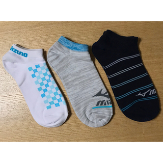 ミズノ(MIZUNO)のMIZUNO ミズノ ソックス 3足セット新品未使用 靴下 23〜25cm  青(ソックス)