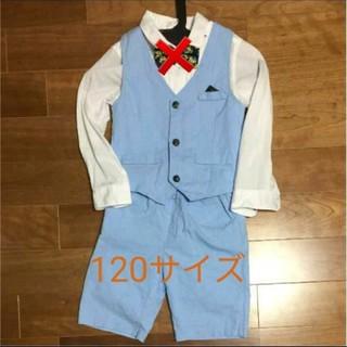 エイチアンドエム(H&M)の120サイズ水色フォーマル3点セット(ドレス/フォーマル)