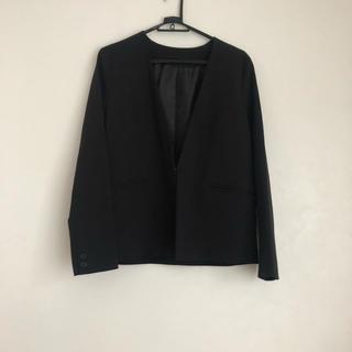 ジーユー(GU)のスーツ ジャケット 会議 オフィスカジュアル ブラック GU(スーツ)