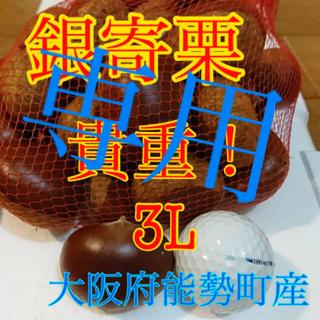 栗 銀寄栗 専用 3L3kg(野菜)