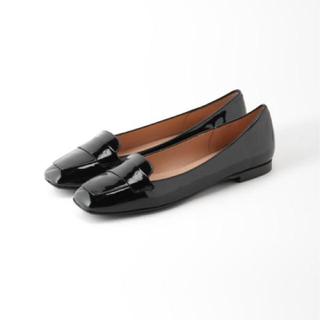 イエナ(IENA)のIENA STATUS(ステイタス)ローファー ブラック 36(ローファー/革靴)