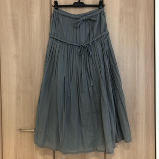 ワイズ(Y's)のリミフゥーデザインギャザースカート(ロングスカート)