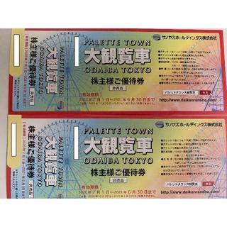 サノヤス 株主優待券2枚 パレットタウン観覧車☆(その他)