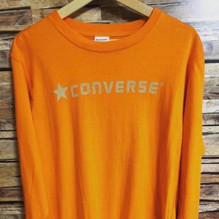 コンバース(CONVERSE)のコンバース オレンジ カットソー レア(Tシャツ/カットソー(七分/長袖))