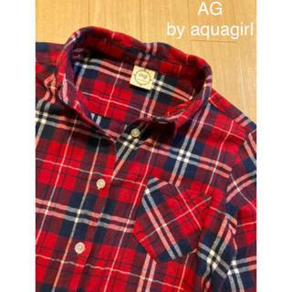 エージーバイアクアガール(AG by aquagirl)のAG  by aquagirlの赤チェックシャツ!美品♡コットン100!秋使用(シャツ/ブラウス(長袖/七分))