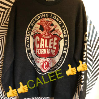 CALEE - CALEE ☆キャリー☆JACQUARD EAGLE KNIT SWEATER