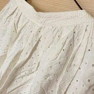 エヘカソポ(ehka sopo)のオフホワイト レーススカート(ひざ丈スカート)