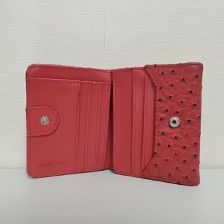 ヴァレンティノ(VALENTINO)のVALENTINO CHRISTY オーストリッチ型押し 二つ折り財布(折り財布)