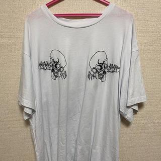 ジョンローレンスサリバン(JOHN LAWRENCE SULLIVAN)のikumi 刺繍オーバーtシャツ(Tシャツ/カットソー(半袖/袖なし))