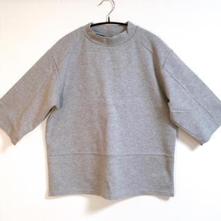 エックスガール(X-girl)のX-girl 五分袖 TOPS グレー (Tシャツ(半袖/袖なし))
