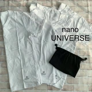ナノユニバース(nano・universe)のナノユニバース BASE Tシャツ 3枚セット 収納袋付 トップス カットソー(Tシャツ(半袖/袖なし))