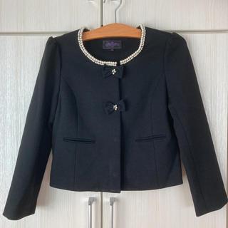 クチュールブローチ(Couture Brooch)の12/31迄 新品‼️RUIRUE BOUTIQUEパール付きリボンジャケット(ノーカラージャケット)