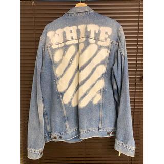 OFF-WHITE - off-white オフホワイト スプレー 17ss デニムジャケット Lサイズ