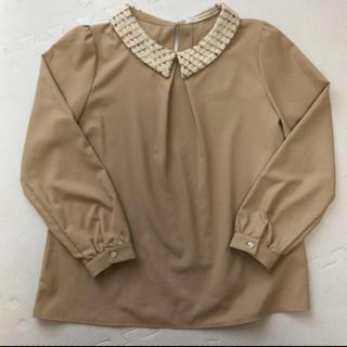 ルカ(LUCA)のブラウス ベージュ ツイード襟付き(シャツ/ブラウス(長袖/七分))