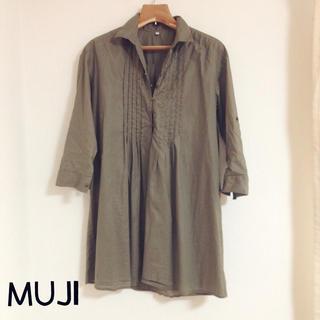 ムジルシリョウヒン(MUJI (無印良品))の無印良品♡カーキシャツチュニック(チュニック)