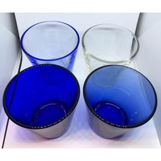 イッタラ(iittala)のイッタラIittala カルティオ 欧州限定品 ブルークリスタル4(グラス/カップ)