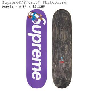 シュプリーム(Supreme)のSupreme Smurfs Skateboard purple シュプリーム(スケートボード)