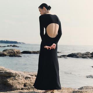 ラヴィジュール(Ravijour)の加藤ジュンコ バックレスロングスリーブドレス(ロングワンピース/マキシワンピース)